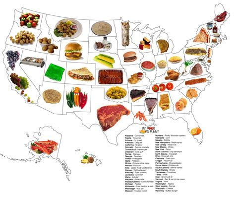 food map of the united states styles regional foods so