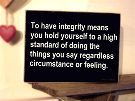 The Things You Would Said what does integrity david m masters