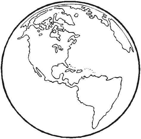 coloring page earth globe collections