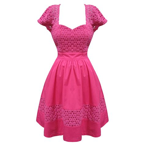 Floral Dress Santai Pink eucalyptus gabrielle floral retro vintage 50s style prom dress sale