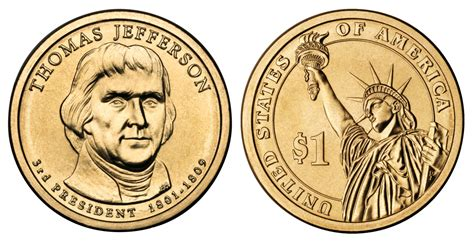 2007 p presidential dollars thomas jefferson golden dollar value and prices