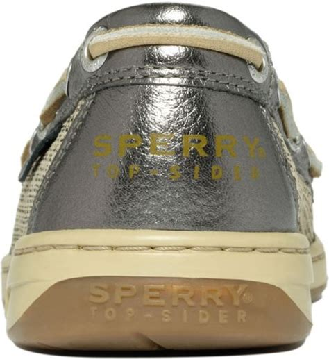 sperry top sider angelfish boat shoes in brown linen gold
