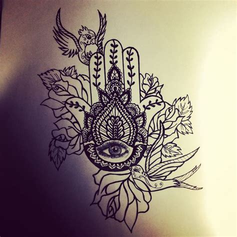 bed of roses tattoo image result for hamsa in a bed of flowers ideas