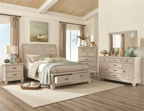 white wash country queen bedroom set  furniture place
