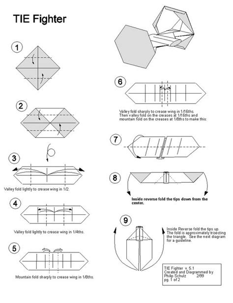 How To Fold Origami Wars - wars tie fighter origami awesomeness