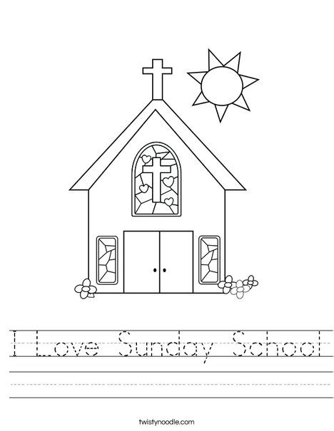 printable activity sheets for sunday school i love sunday school worksheet twisty noodle