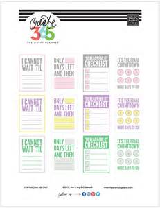 create planner online countdown free printables for the happy planner me