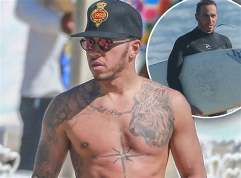 lewis hamilton shows off new buff lewis hamilton shows what shirtless should look