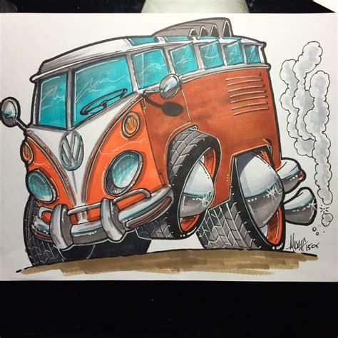 volkswagen bus drawing 8 best rat rod art images on pinterest rat fink
