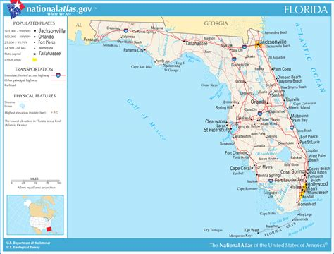 map of florida earth map of florida general map worldofmaps net