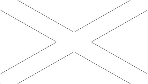 Scotland Flag Outline Kids Coloring Europe Travel Scotland Flag Coloring Page