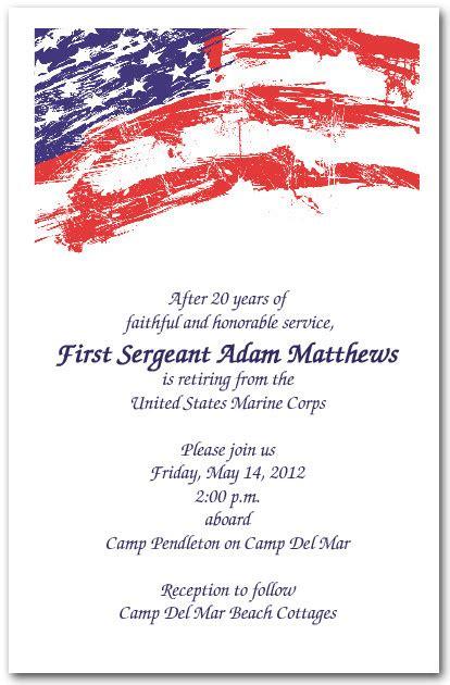 Usa Flag Invitations 4th Of July Invitations Military Invitations American Flag Invitation Template
