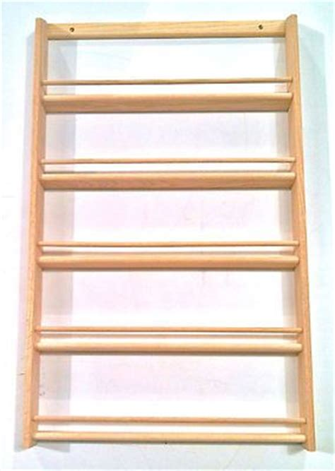 solid oak 5 shelf wood spice rack 32 75 quot h x 20 quot w wall
