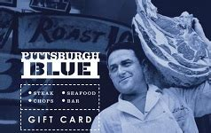 Pittsburgh Restaurant Gift Cards - buy pittsburgh blue gift cards at a discount giftcardplace