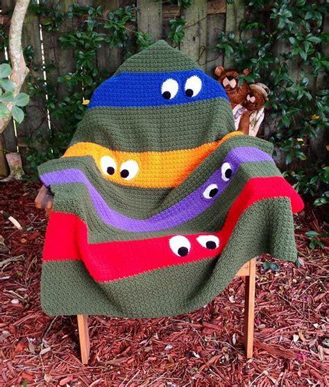 Crochet Pattern Ninja Turtle Blanket | ninja crochet pattern free tutorials and great ideas the