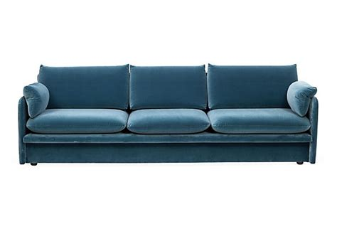 peacock blue sofa - Peacock Velvet Sofa