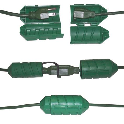 cord connect water tight outdoor cord lock the green head