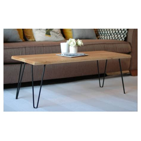 hairpin bench jasper coffee table with hairpin legs by renn uk