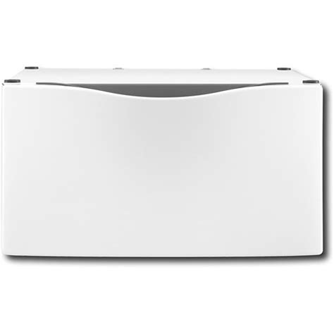 xhp1550vw pedestal whirlpool 1512 quot laundry pedestal with storage drawer white