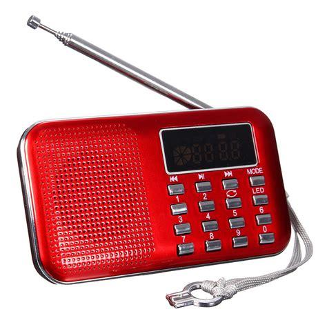 Speaker Mini Radio Usb Memory Card Sperker mini portable lcd digital fm radio speaker usb micro sd tf card mp3 player ebay