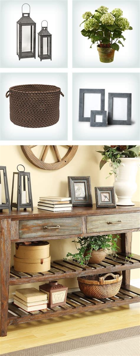 home decor table accents how to style a console table pair d 233 cor accents with varying heights like best home decor