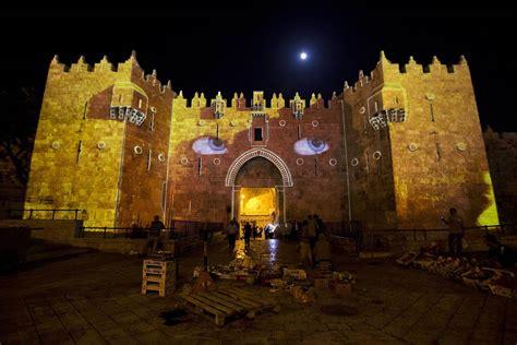 Jewish Festival Of Lights Lights On Damascus Gate Illuminates Jerusalem Night Nbc