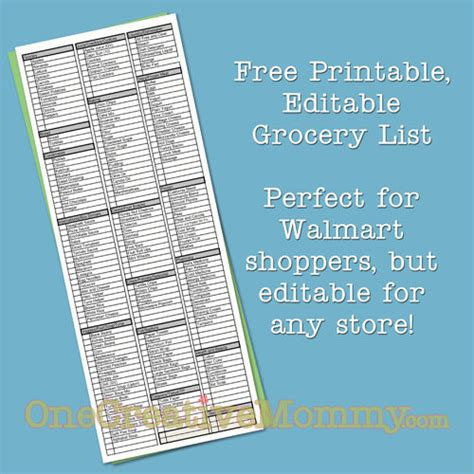 printable walmart grocery shopping list grocery list free printable new calendar template site