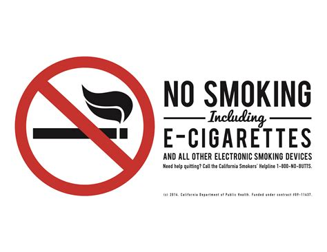 no smoking sign e cigarettes team lab materials tobacco education and materials lab