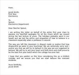 sample apology letter to teacher 8 free documents in