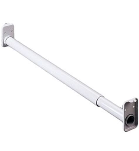 adjustable closet rod white in closet rods and brackets