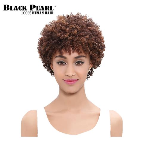 kinky hairpieces for black women black pearl fashion short curly wigs for black women afro