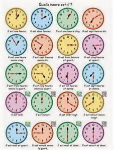 l language quelle heure est il le de fran 231 ais