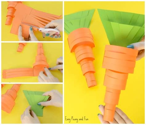 carrot craft for paper carrot craft easy peasy and