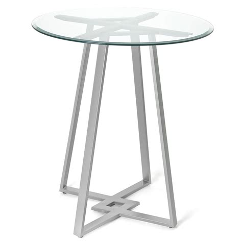 glass top bar table amisco dirk modern bar table collectic home
