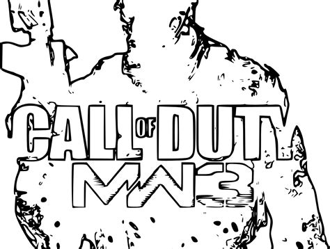 call of duty ghost logo coloring pages