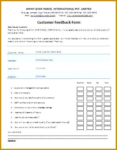 7 customer feedback form template free download | fabtemplatez
