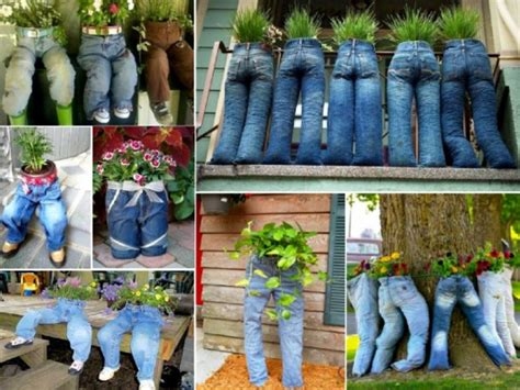 Homemade Flower Pots Ideas by How To Diy Fun Recycled Jean Planter Www Fabartdiy Com