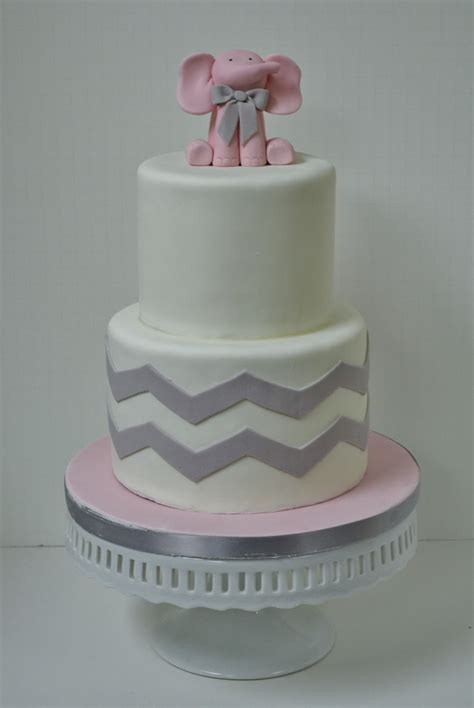 Baby Shower Elephant Cake by Sweet Cakes By Pink Elephant Baby Shower