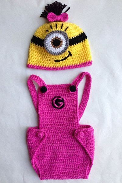 Owl Overal Dress pink minion hat and overalls by evermicha on etsy