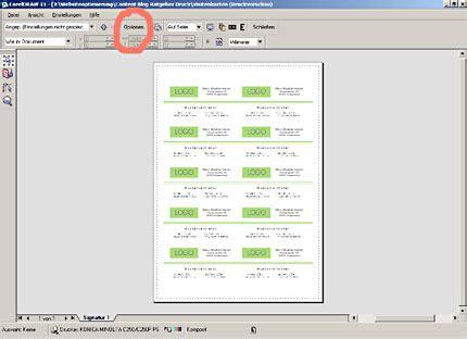 Etiketten Drucken Corel Draw by Visitenkarten Gestalten Und Drucken Mit Coreldraw