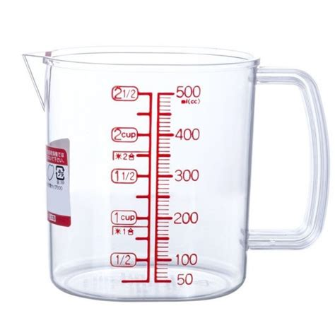500ml to cups mylifeunit 2 cup measuring cup plastic measure cup 2 1 2 cup 500 ml