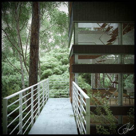 house balcony forest interior design ideas