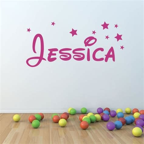 personalised name wall stickers uk wall chimp personalised disney name font wall sticker
