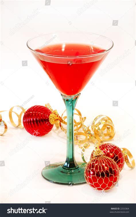 Pretty Cocktail Glasses Cheer Cocktail Pretty Glass Ready Stock Photo