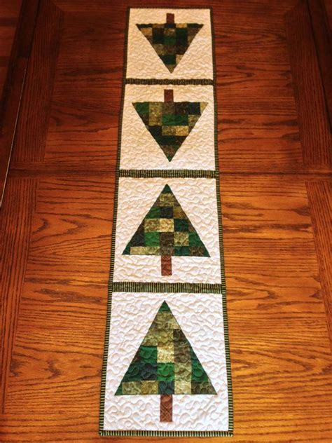 patchwork christmas tree runner pattern holiday patchwork christmas tree table runner