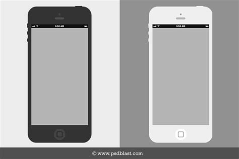 flat iphone wireframe design template psd psdblast