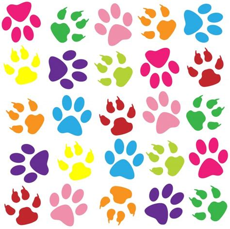 paw background paw prints colorful background free stock photo
