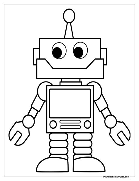 Robot Coloring Pages Print Color Craft Robot Craft Template
