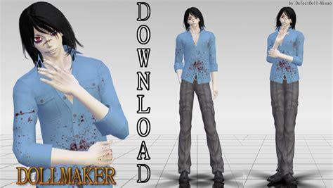 doll makers mmd creepypasta dollmaker dl by defectdoll misao on