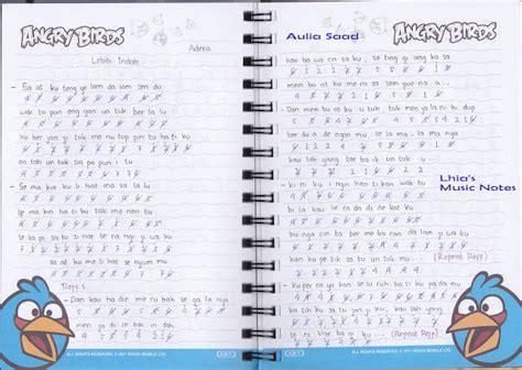 not angka pianika buku harian not angka lagu adera lebih indah pianika